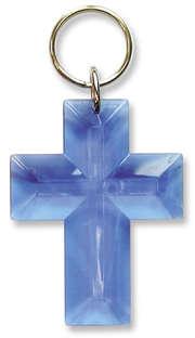 """Schlüsselanhänger """"Kreuz"""" - blau"""