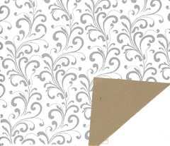 Secare Baroa weiß/gold 918068 250m/50cm