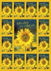 Aufkleber-Gruß-Karten: Gott sei Dank, 4 Stück