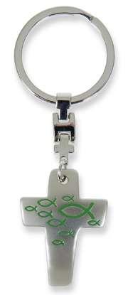 "Schlüsselanhänger ""Kreuz"" - grün"