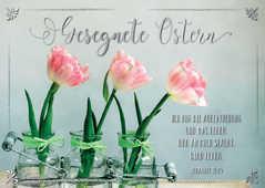 """Postkartenserie """"Gesegnete Ostern"""" Tulpen - 12 Stück"""