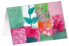 """Kunstkarten """"Blütentupfer"""" - 5 Stk"""