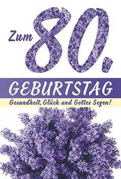 Faltkarte: Zum 80. Geburtstag