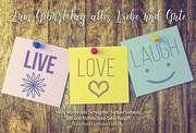 Faltkarte: Zum Geburtstag alles Liebe und Gute