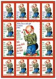 Aufkleber-Gruß-Karten: Schön, dass es dich gibt ... - 12 Stück