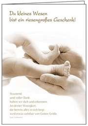 Faltkarte: Du kleines Wesen - Geburt