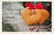 Tee-Postkarte - Frohe Weihnachten