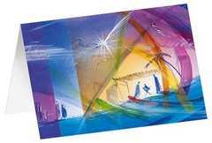 Bethlehem - Kunst-Doppelkarten ohne Text (5-er Pack)