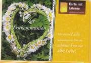 Laternenkarte - Zur Erstkommunion
