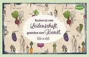 Kräuter-Dip-Postkarte - Kochen ist eine Leidenschaft