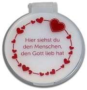 """Taschenspiegel """"Herzen"""" - weiß"""