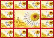 Aufkleber-Gruß-Karten: Gute Wünsche für Dich - 4 Stück