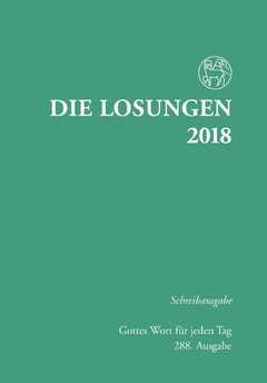 Losungen 2018 grün, Schreibausgabe